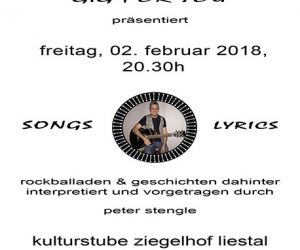 Konzert mit Peter Stengle